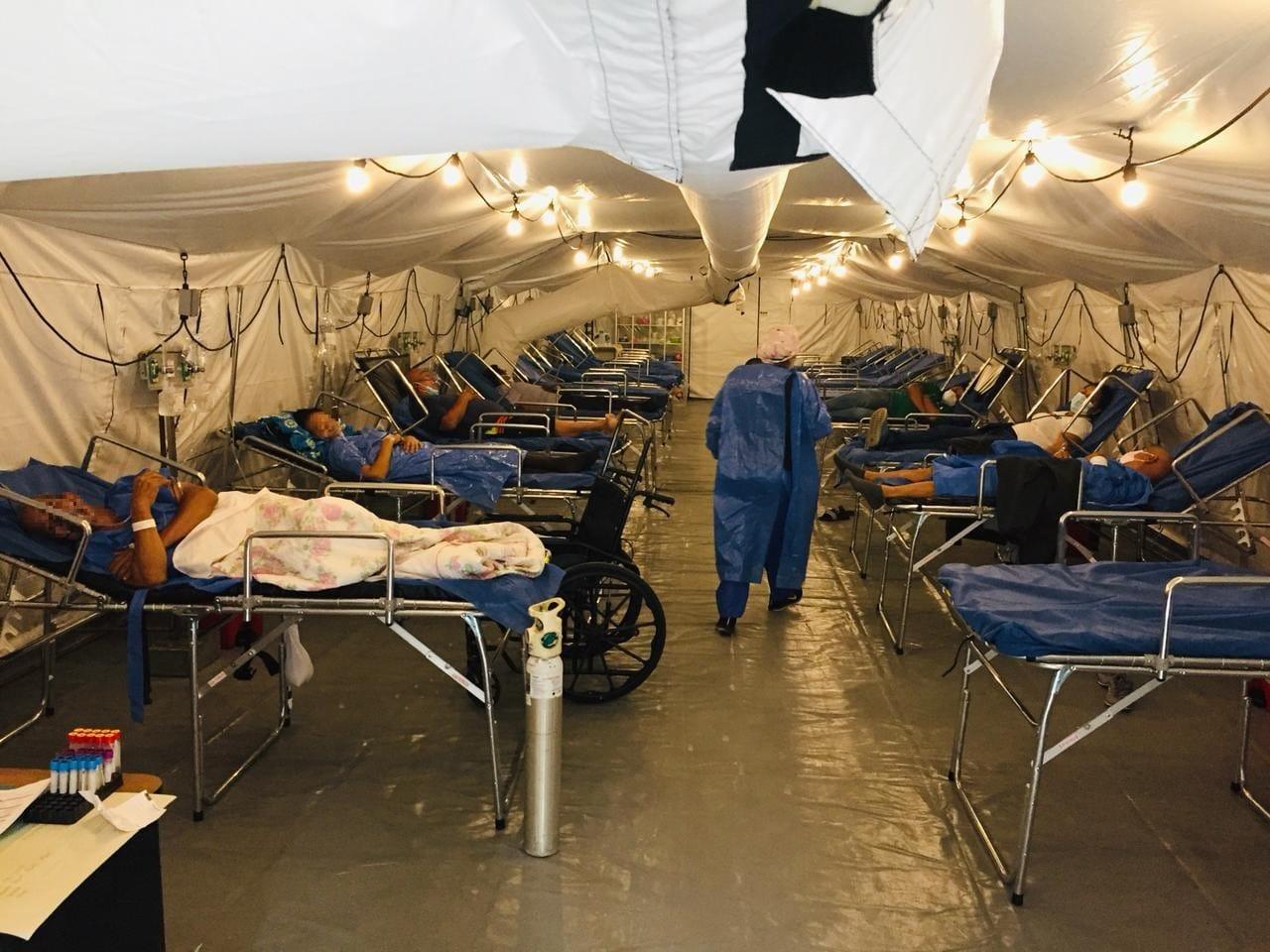 Hospital de Campaña ya funciona en el HTMC para atención de paciente con COVID-19